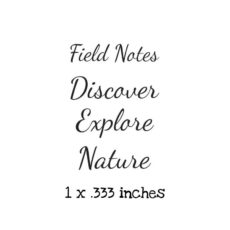 WH204D Field Notes QT Rubber Stamps
