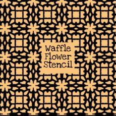 Waffle Flower Stencil