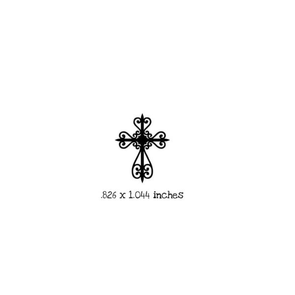 FT101B Small Cross Rubber Stamp