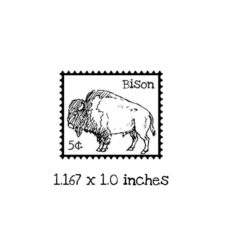 PS101B Bison Postage Rubber Stamp