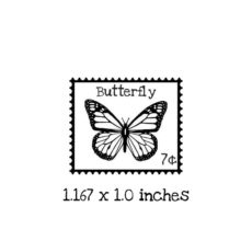 PS102B Butterfly Postage Rubber Stamp