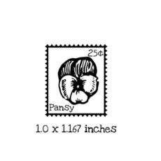 PS105B Pansy Postage Rubber Stamp