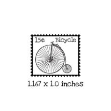 PS106B Bicycle Postage Rubber Stamp