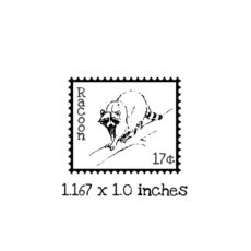 PS107B Racoon Postage Rubber Stamp