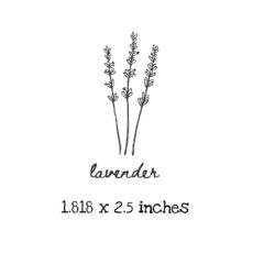 AP201C Lavender Rubber Stamps