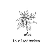 AP203C Aloe Rubber Stamps