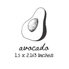 AP214C Avocado Rubber Stamps