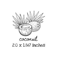 AP220C Coconut Rubber Stamps