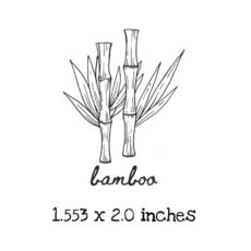 AP222C Bamboo Rubber Stamps