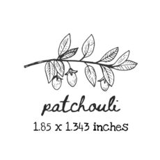 AP224C Patchouli Rubber Stamps