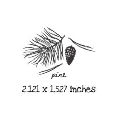 AP225C Pine Rubber Stamps