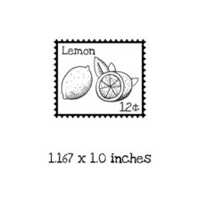 PS108B Lemon Postage Rubber Stamp
