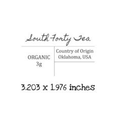 TG103D South Forty Tea Label Rubber Stamp