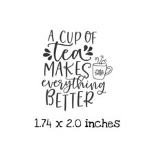 TG104C Everything Better Rubber Stamp