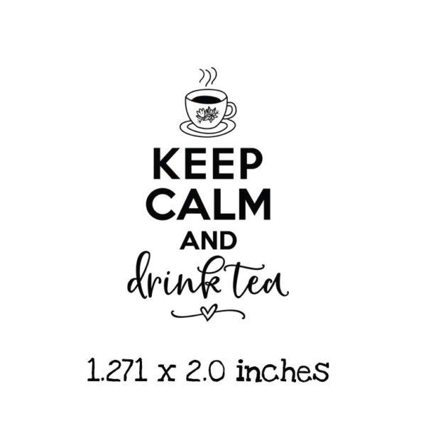 TG107C Drink Tea Rubber Stamp