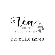 TG112C Hug in a Cup Rubber Stamp