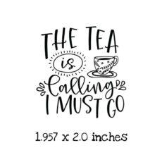 TG114C Tea Calling Rubber Stamp