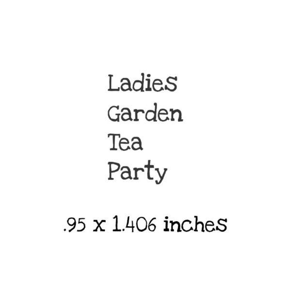TG119D Ladies Garden Tea Party QT Rubber Stamps