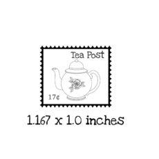 TG120B Tea Postage Rubber Stamp