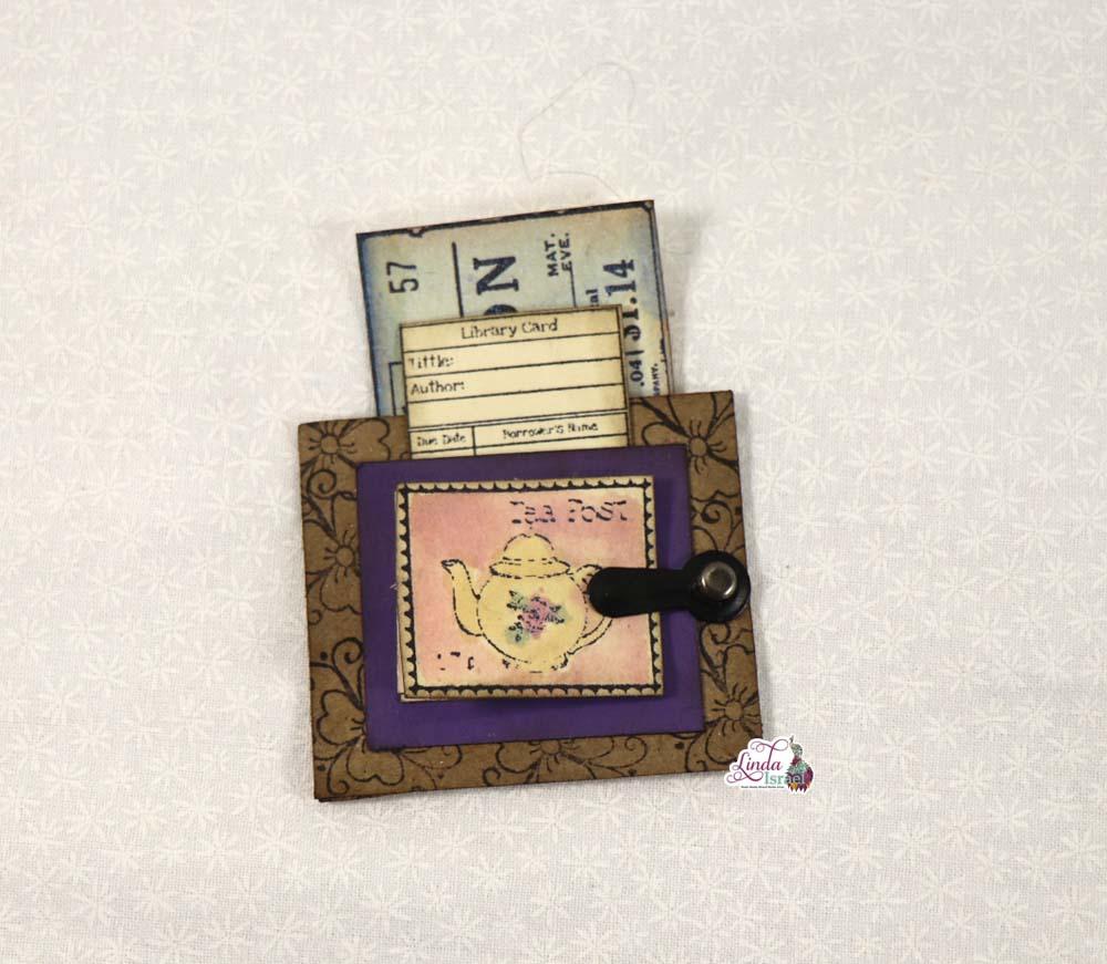 Tiny Faux Postage Pocket Tutorial