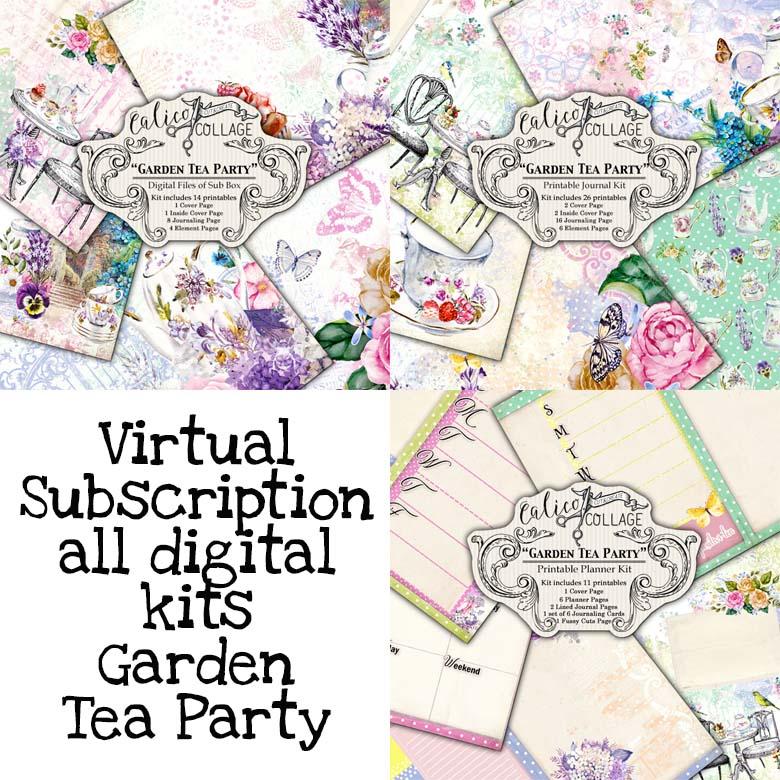 Virtual Subscription Garden Tea Party Journal Kit