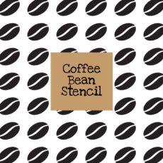 Coffee Bean Stencil