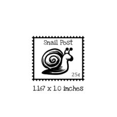 PS110B Snail Postage Rubber Stamp