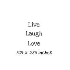 WH139B Live Laugh Love Trio Rubber Stamps