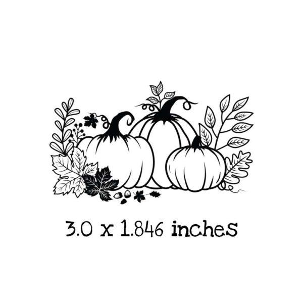 AU103D Pumpkin Patch Rubber Stamp