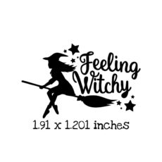 HA101C Feeling Witchy Rubber Stamp