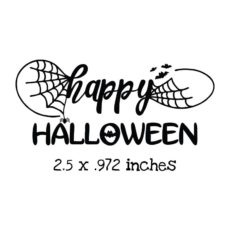 HA103C Happy Halloween Rubber Stamp