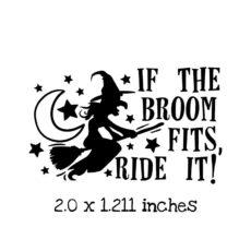 HA104C Ride It Rubber Stamp