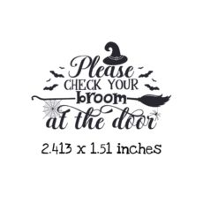 HA105C Check Your Broom Rubber Stamp