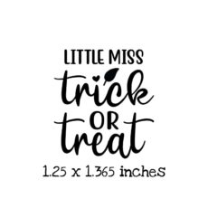 HA106C Little Miss Trick or Treat Rubber Stamp