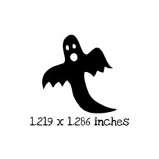 HA115B Ghost 4 Rubber Stamp