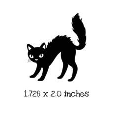 HA116C Black Cat Rubber Stamp