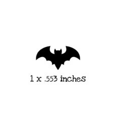 HA117B Flying Bat Rubber Stamp