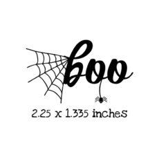 HA118C Boo Rubber Stamp