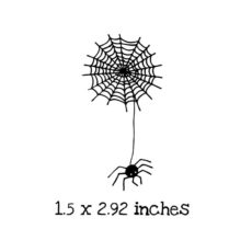 HA119C Web with Spider Rubber Stamp