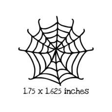 HA120C Spider Web 1 Rubber Stamp