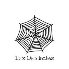 HA121C Spider Web 2 Rubber Stamp