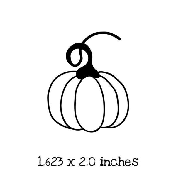 HA123C Outline Pumpkin Rubber Stamp