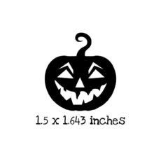 HA125C Carved Pumpkin 1 Rubber Stamp