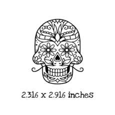 HA127D Sugar Skull Rubber Stamp
