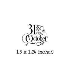 HA129C October 31 Rubber Stamp