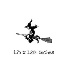 HA132C Witch Rubber Stamp