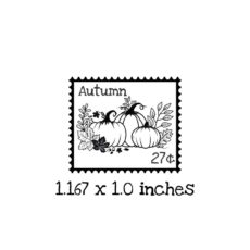 PS111B Autumn Postage Rubber Stamp