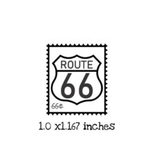 PS112B Route 66 Postage Rubber Stamp