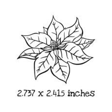 CM0102D Poinsettia Rubber Stamp