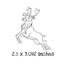 CM0104D Reindeer Jumping Rubber Stamp